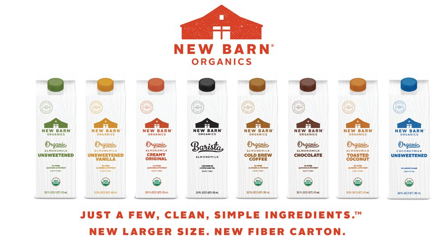 New Barn Organics Embraces PlantCarton™ Packaging for Almond Milk Products