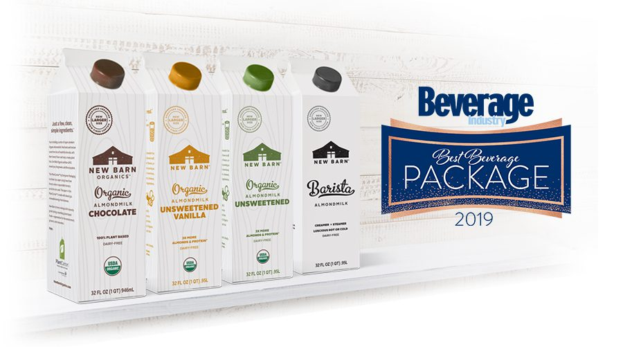 Evergreen Packaging's PlantCarton® Package for New Barn Organics Selected as Best Beverage Package of 2019