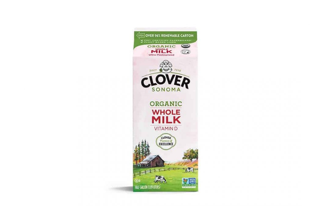 Clover Sonoma selects PlantCarton package with RenewablePlus paperboard by Evergreen Packaging for its Organic Milk Products